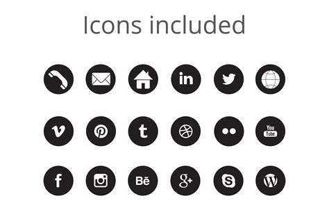 13306 black resume icons minimalist resume template for word p design bundles