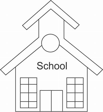 Outline Clipart Schoolhouse Clip Silhouette Cliparts Md
