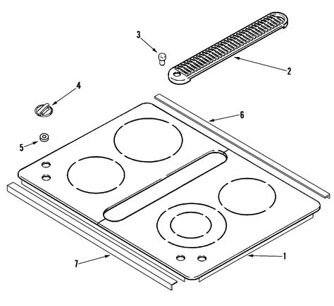 jenn air cooktop parts jenn air electric cooktop parts model jed8430bdb sears