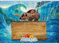 Convite Moana e Maui Fazendo a Nossa Festa