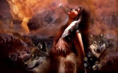 Wolf Native American Spirit Wallpapers Desktop Backgrounds