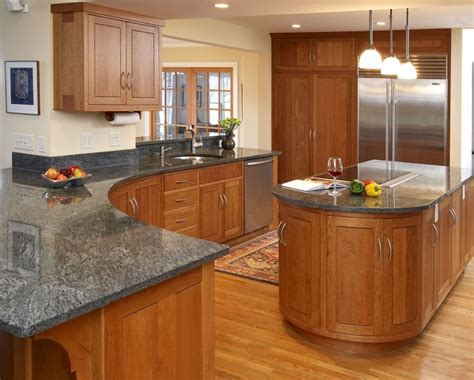 cherry cabinets with gray countertops dark grey countertops with natural oak cabinets google