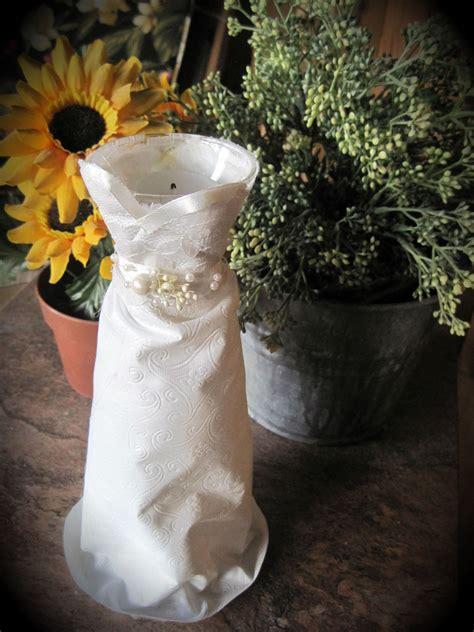 diy wedding wedding dress silhouette candle holder made