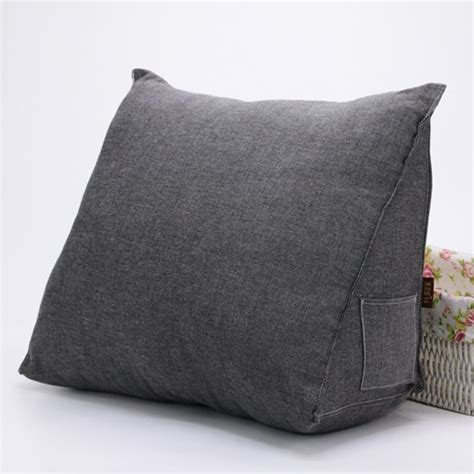 backrest pillow cover sofa daybed large filled triangular wedge cushion bed