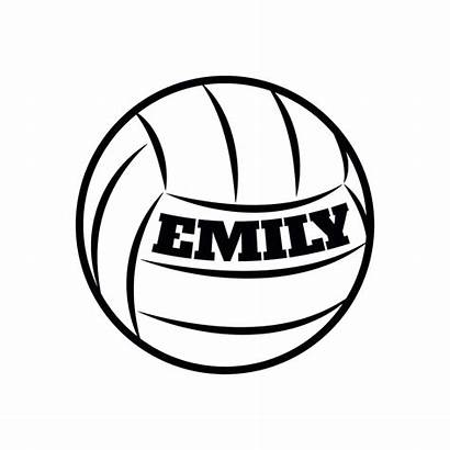 Volleyball Decal Personalized Graphics Wall Transfer Giant