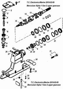 Alpha 1 Gen 2 Upper Gearcase Parts Drawing 1