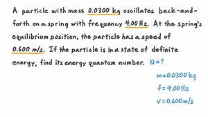 Video  Quantum Energy Number Of A Macroscopic Object