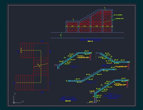 stairs reinforcement detail dwg detail  autocad