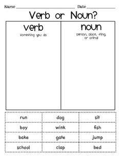 100 kindergarten noun worksheets grammar worksheets