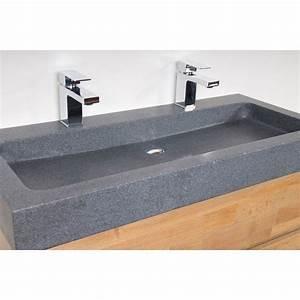 saniclass natural wood meuble salle de bain avec miroir With salle de bain design avec vasque 120 cm a poser