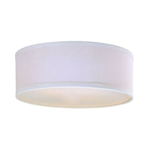 Drum L Shade White by White Linen Drum L Shade With Spider Assembly