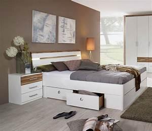 Bett 160x200 Weiß : rixi futonbett bett doppelbett 160x200 wei walnuss mit 4 schubk sten mit licht ebay ~ Indierocktalk.com Haus und Dekorationen