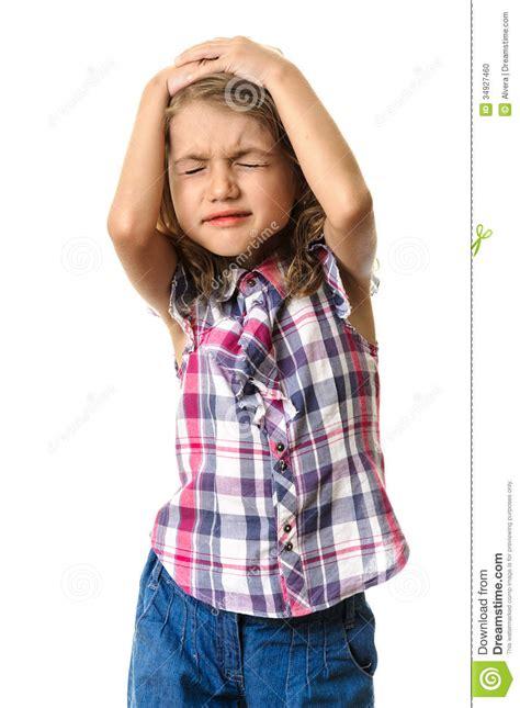 kid headache stock photo image  beauty  girl