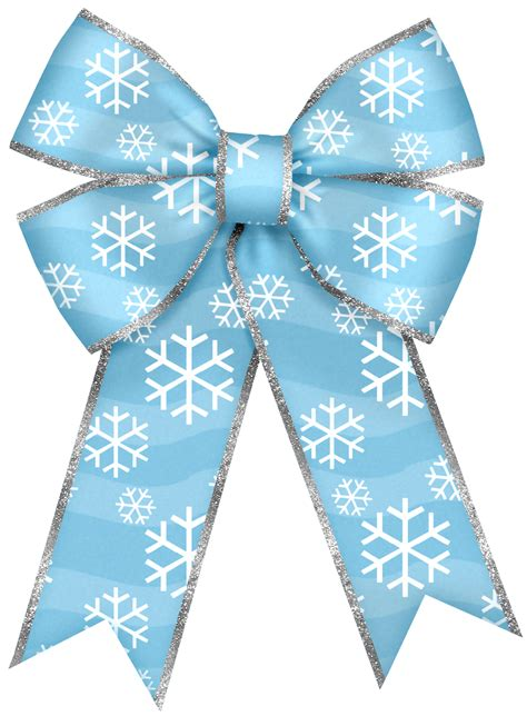 christmas blue bow  snowflakes png clipart ribbon