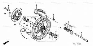 Honda Motorcycle 2004 Oem Parts Diagram For Front Wheel