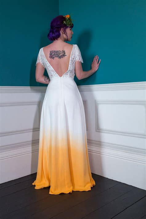 colourful quirky wedding dresses   traditional