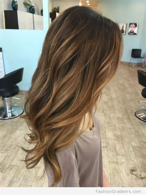 light brown hair with caramel highlights light brown balayage with caramel highlights