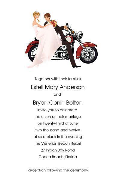 wedding invitation motorcycle motorcycle wedding