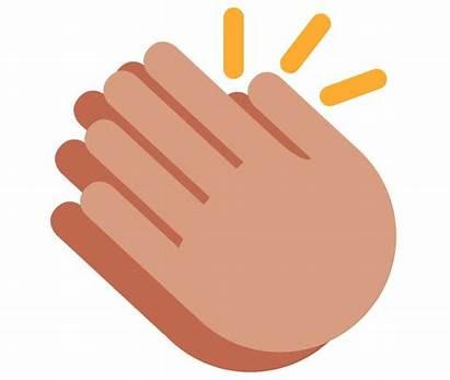 Hands Clapping Emoji Clap Svg Twemoji Sign