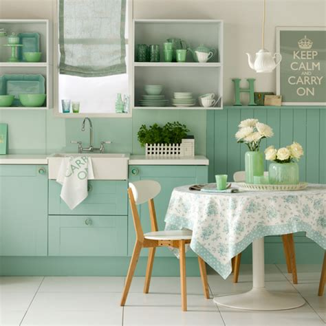 green kitchen color schemes green kitchen colour ideas home trends ideal home 4006
