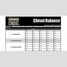 Hammer & Chisel Worksheetspdf  Hot Mom!  Workouts  Hammer, Chisel, At Home Gym, Worksheets