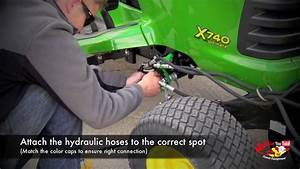 How To Attach A John Deere 47 U0026quot  Snow Blower