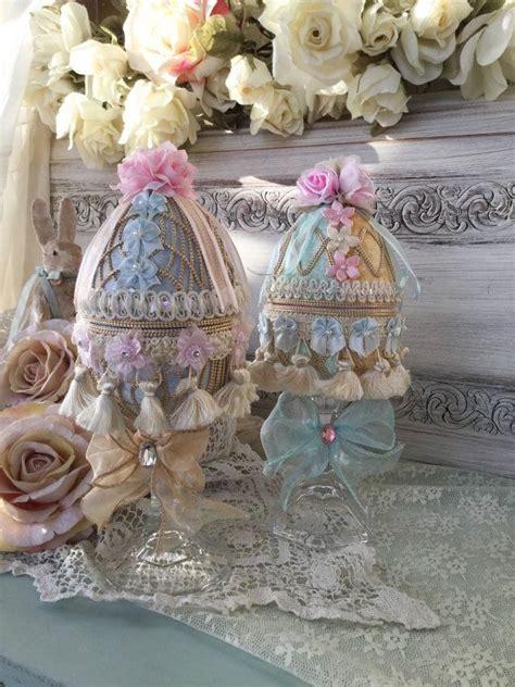 shabby chic easter decor victorian velvet easter egg ornament shabby chic easter decoration ornate mixed media easter