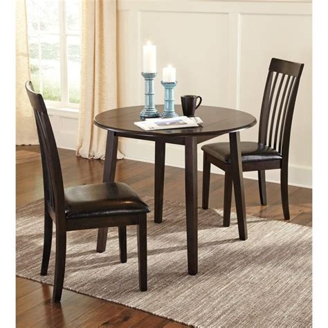 ashley hammis  piece dining room set  dark brown    pkg