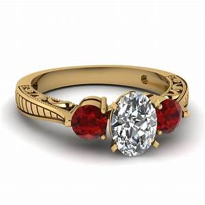 triunity design ring fascinating diamonds With gold wedding rings with ruby