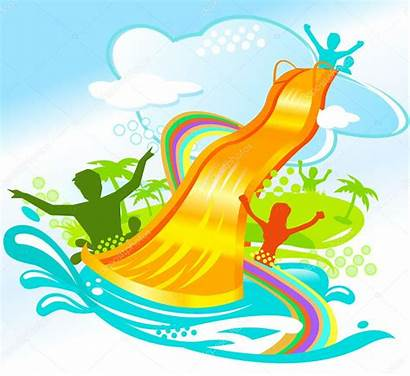Water Fun Slide Clipart Vector Inflatable Park
