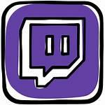 Twitch Icon Platform Social Gamer Games Iconos