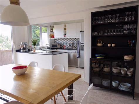 aménagement salon salle à manger cuisine cuisine salle à manger indus scandinave