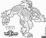 Invizimals Yeti Shadow Zone Coloring Pages Yetis Printable Himalayas Peaks Highest Powerful Hidden Max Oncoloring sketch template