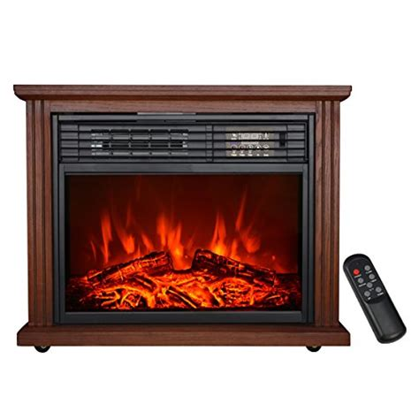 HollyHOME 28'' Free Standing Electric Fireplace with 3