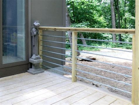 conduit railing building  deck deck railing design