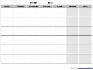 monday through sunday calendar template 2016 calendar With monday through saturday calendar template
