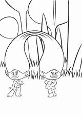 Coloring Twins Trolls Bubakids Concerning Thousands Line Cartoon sketch template