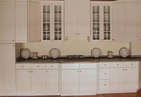 Thermofoil Kitchen Cabinets Pictures by Aspen Beadboard Kitchen Display Traditional Kitchen
