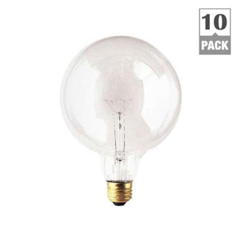 illumine 100 watt incandescent g40 light bulb 10 pack