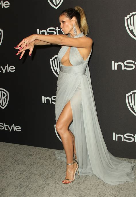 Heidi Klum Instyle Warner Bros Golden Globes
