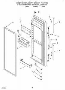 Whirlpool 2159075 Refrigerator Door Gasket