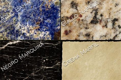 names of countertops for granite marble onyx and more