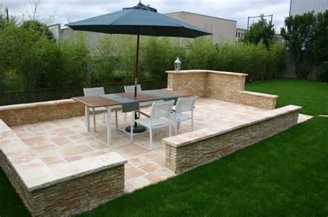cr 233 ation de terrasse en pierre paysagiste chartres