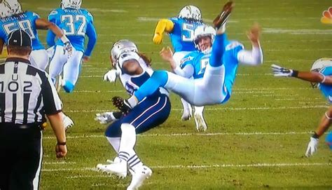 Chargers Punter Mike Scifres Gets Destroyed After Patriots