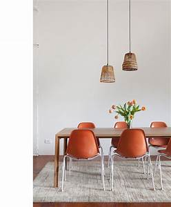 Dining table over pendant lights