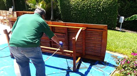cleaning teak outdoor furniture