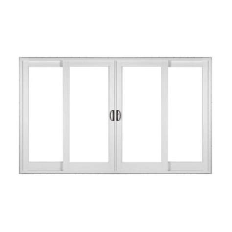 simonton white 4 panel rail sliding patio door with
