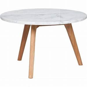 Table Basse Scandinave Ronde : table basse en marbre blanc style scandinave zuiver ~ Teatrodelosmanantiales.com Idées de Décoration