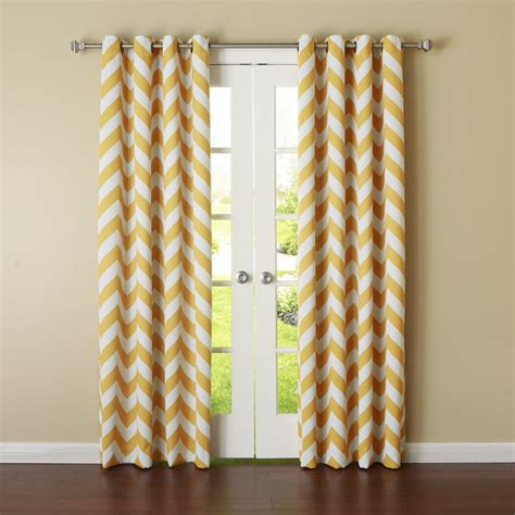 yellow and gray curtains