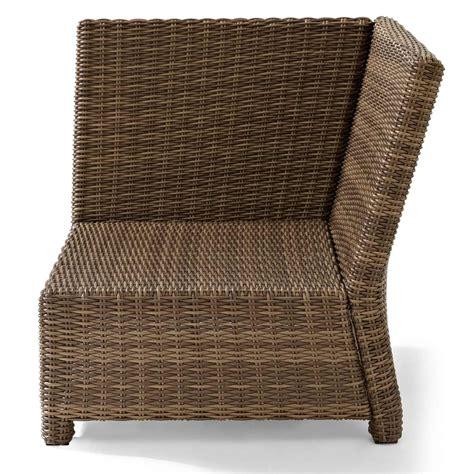 crosley biltmore outdoor wicker sectional corner chair